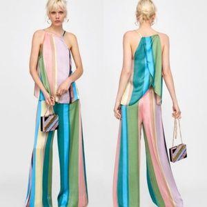 Zara Stripe Halter Top